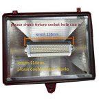 Ampoule à intensité variable LED R7s J118118mm 30W Lumière chaude 3000K 220V AC 3000 lm à double extrémité J Projecteur LED pour R7s 200W 300W 400W halogène de remplacement de la marque qlee image 3 produit
