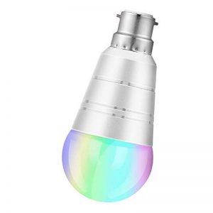 Ampoule LED intelligente Wi-Fi couleur avec variateur d'intensité - culot B22- contrôle à distance à partir d'appareils intelligents et commande vocale par Amazon Alexa et Google Home - 7 W - blanc froid - 6000K de la marque AUSEIN image 0 produit