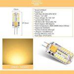 ANGGE Lot de 6 - G4 5W 48 x 13mm 48 SMD 2835 AC DC 12V LED Ampoule de maïs Haute puissance LED lumière Silicone projecteur Ampoule Blanc chaud Remplacement de la lampe Dimmable [Classe énergétique A +] - (Warm White) de la marque ANGGE image 1 produit