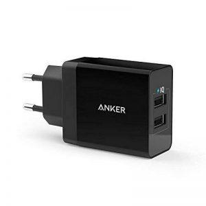 Anker Chargeur Secteur USB 24W 2 Ports Chargeur Mural Adaptateur USB Universel avec Technologie PowerIQ pour iPhone iPad, Samsung Galaxy/Note, LG, Nexus etc[Version améliorée] de la marque Anker image 0 produit