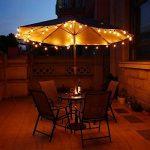 AnkerMax Guirlande Guinguette Extérieur, Guirlande Lumineuse Exterieur, 7.62mètres Câble, 25 G40 Ampoule et 5 de Rechange, Raccordable au maximum 3 Brins, Lumière Blanc Chaud Guirlande lumineuse, Guirlande Guinguette Raccordable avec 25 ampoule Blanc Chau image 3 produit