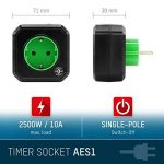 ANSMANN AES1 prise électrique avec minuterie / Prise économe en énergie avec minuterie pour appareils ménagers : radiateur soufflant, machine à café ou à laver etc. / Le temps de fonctionnement peut être réglé par la touche de fonction de la marque Ansman image 1 produit