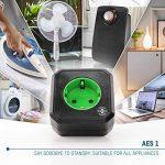 ANSMANN AES1 prise électrique avec minuterie / Prise économe en énergie avec minuterie pour appareils ménagers : radiateur soufflant, machine à café ou à laver etc. / Le temps de fonctionnement peut être réglé par la touche de fonction de la marque Ansman image 3 produit