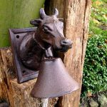 antikas–Cloche avec vache–Cloche, jardin kunsthandwerklich Cloche de porte Rural d' de la marque Antikas image 1 produit
