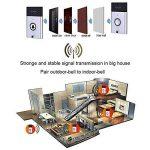aolvo Voice Intercom sans fil sonnette de porte, Smart Voice Intercom sans fil doorbells 200m Espacement entre le émetteur + récepteur intérieur extérieur Silber de la marque Aolvo image 4 produit
