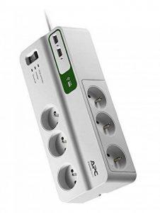 APC Surge Arrest Essential - PM6U-FR - 6 prises - 2 ports de chargement USB - Police de protection des équipements connectés de la marque APC BY SCHNEIDER ELECTRIC image 0 produit