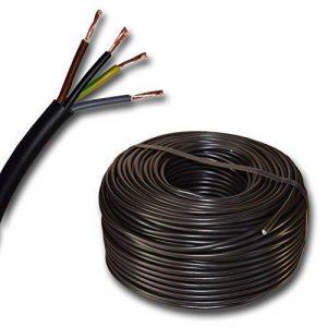 Appareil de câble gaine ronde LED Câble de câble en plastique H03VV-F 4x 0,75mm² (mm2) 4G0–Couleur: Noir 10m/15/20/25m/30m/35m/45M/40m/50m/55m/60M etc. jusqu'à 250m en étapes de 5m de la marque EBROM image 0 produit