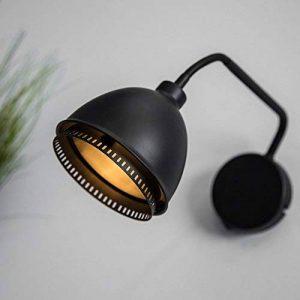 Applique murale style vintage Noir mat avec interrupteur Bras flexibles et culot G9max. 40W de la marque Lightbox image 0 produit