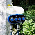 Aqualin Robinet à boisseau sphérique Programmateur pour arrosage avec deux fuite Electro l'eau Minuteur minuterie électronique Système d'arrosage automatique pour jardin Cour de la marque Aqualin image 2 produit