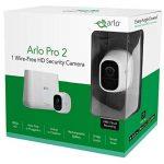 Arlo Pro 2 - Smart caméra de surveillance, Pack de 1, 1080p HD jour/nuit, grand angle 100% Sans Fils - batterie rechargeable 6 mois, audio bi-directionnel, Intérieure / extérieure et alarme intégrée l VMS4130P-100EUS de la marque Arlo image 2 produit