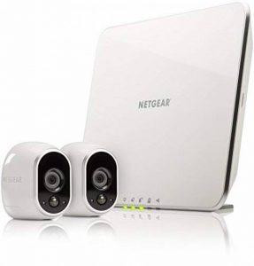 Arlo - Smart Caméra de surveillance - Pack de 2 - Kit de Surveillance 100% sans Fil, HD,Vision Nocturne, Etanches Intérieur/Extérieur, Fixations Aimantées Fournies l VMS3230-100EUS de la marque Arlo image 0 produit