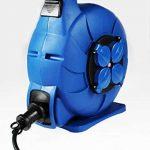 as - Schwabe 812643 enrouleur de câble électrique automatique, rallonge extérieur, Bleu, 10 m câble de la marque as - Schwabe image 1 produit