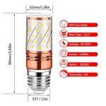 Auban Ampoules LED Or Rose Ampoules LED Or Blanc Chaud E27 Ampoules à Incandescence de 12W 2700-3000K 100W Equivalent à 880Lm, Sans Scintillement, Sans Stroboscope (4 Packs) de la marque Auban image 1 produit