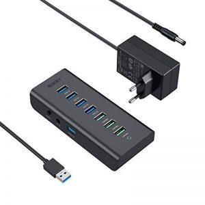 AUKEY HUB USB 3.0 7 Ports ( 4 * USB 3.0 + 3 * Charge 2,4A ) Hub USB SuperSpeed avec Adaptateur d'alimentation 36W compatible avec Windows XP / Vista / 7 / 8 / 10 , Mac OS , Linux 3.0 , etc ( NOIR ) de la marque Aukey image 0 produit