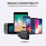 AUKEY Quick Charge 3.0 Chargeur Secteur USB 19,5W Chargeur Mural pour Samsung Galaxy S8/S8+/Note 8, LG G5/G6, Nexus 5X/6P, HTC 10, iPhone XS / iPhone XS Max / iPhone XR, iPad Pro/Air, Moto G4 etc. de la marque AUKEY image 3 produit