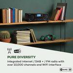 auna Worldwide Radio Internet CD avec Bluetooth • Lecteur CD avec Tuner Dab/Dab+ • Réveil Radio • Port USB-MP3 • Spotify Connect • AUX • App Control • Noir de la marque Auna image 1 produit