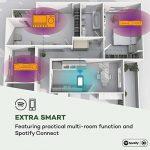 auna Worldwide Radio Internet CD avec Bluetooth • Lecteur CD avec Tuner Dab/Dab+ • Réveil Radio • Port USB-MP3 • Spotify Connect • AUX • App Control • Noyer de la marque Auna image 3 produit