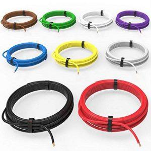 Auprotec® Câble unipolaire 1.0 mm² Fil Électrique: Set 9 couleurs á 10m de la marque Auprotec® Fahrzeugleitung image 0 produit