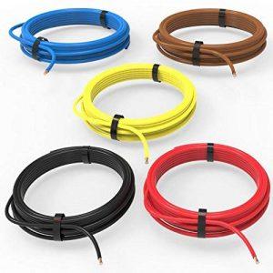 Auprotec® Câble unipolaire 1.5 mm² Fil Électrique: Set 5 couleurs á 10m de la marque AUPROTEC image 0 produit