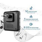 AVANTEK D-3G 400m de Portée Sonnettes Sans Fil Kit de Carillon Étanche avec 1 Récepteur Enfichables, 52 Mélodies (Noir) de la marque AVANTEK image 1 produit