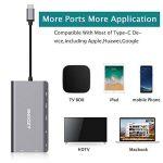 AZDOME HUB USB C 8 en 1 Type-C HUB Adaptateur, 2xUSB 3.0 HDMI 4K VGA PD Port RJ45 Ethernet, SD Lecteur et 3.5mm Audio Adapter pour Macbook/Chromebook Tablettes de la marque AZDOME image 2 produit