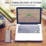 AZDOME HUB USB C 8 en 1 Type-C HUB Adaptateur, 2xUSB 3.0 HDMI 4K VGA PD Port RJ45 Ethernet, SD Lecteur et 3.5mm Audio Adapter pour Macbook/Chromebook Tablettes de la marque AZDOME image 3 produit