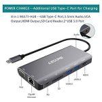 AZDOME HUB USB C 8 en 1 Type-C HUB Adaptateur, 2xUSB 3.0 HDMI 4K VGA PD Port RJ45 Ethernet, SD Lecteur et 3.5mm Audio Adapter pour Macbook/Chromebook Tablettes de la marque AZDOME image 4 produit