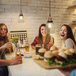 B.K. Licht suspension verre vintage, plafonnier vintage, éclairage intérieur cuisine comptoir restaurant, 230V, IP20, Ø 140 mm de la marque B.K.Licht image 3 produit
