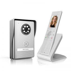 B&L Sonnette de porte Interphone portier vidéo couleur sans fil avec image mémoire Station (partie Mobile) extérieur et intérieur Station,500 m de distance de communication, la fonction de vision nocturne, IP55, surveillance active de la marque B&L image 0 produit