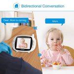 """Babyphone sans Fil, LESHP Moniteur Bébé 3.5 """" LCD Écran 2.4 GHz Vidéo Numérique TFT Avec Surveillance de la Température de Vision Nocturne et Système de Communication Bidirectionnelle de la marque AgoHike image 3 produit"""