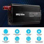 Bapdas 500W Convertisseur Transformateur DC 12V AC 220V-240V, Ports USB Dual 5V / 2.1A Corps en Aluminium avec Attaches de Batterie de Voiture et Chargeur de Voiture de la marque Bapdas image 3 produit