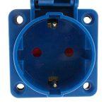 BeMatik - Prise Industrielle Schuko Femelle 2P+T 16A 250V IP44 IEC-60309 pour intégration de la marque BeMatik.com image 2 produit