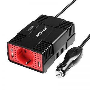 BESTEK Convertisseur 300W 12V à 230V Adaptateur Allume-Cigare avec Prise Electronique et Double Ports USB - Noir de la marque BESTEK image 0 produit