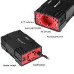 BESTEK Convertisseur 300W 12V à 230V Adaptateur Allume-Cigare avec Prise Electronique et Double Ports USB - Noir de la marque BESTEK image 1 produit
