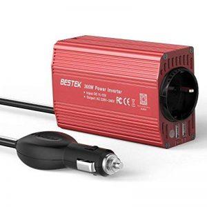 BESTEK Convertisseur Ondulateur Métal 300W 12V 220V à 240V Chargeur Allume-Cigare Transformateur de Courant 1 Prise Française 2 Ports USB Voiture Camion - Rouge de la marque BESTEK image 0 produit