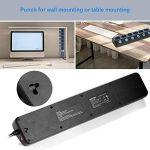 BESTEK Multiprise Parafoudre 6 Prises avec 4 USB Multiples A 900J Protection Surtension Et Protection Contre La Foudre Montage Mural 3600 W de la marque BESTEK image 3 produit