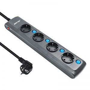BESTEK Multiprise Rallonge Electrique 4 Prises 4 Interrupteurs individuels Cordon de 1.8m, 4000W/16A de la marque BESTEK image 0 produit