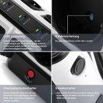 BESTEK Tour Multiprise Parasurtenseur Parafoudre avec 8 Prises EU et 6 Ports USB 2,4A, Interrupteur, Adaptateur Douille, Clapet Sécuritaire, 1600J Protection Surtensions, Clapet Sécurisé, 3600W/16A de la marque BESTEK image 3 produit