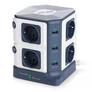 BESTEK Tour Multiprise USB Bloc Parafoudre/Parasurtenseur 8 Prises avec 6 Ports USB de Recharge de la marque BESTEK image 0 produit