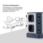 BESTEK Tour Multiprise USB Bloc Parafoudre/Parasurtenseur 8 Prises avec 6 Ports USB de Recharge de la marque BESTEK image 4 produit