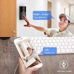 Biback WiFi vidéo Sonnette, téléphone à Distance visionnement vidéo intercom 170 degré HD sans Fil Smart Sonnette caméra avec Vision Nocturne et détection de Mouvement, Pas de Batterie et TF Carte de la marque Biback image 3 produit