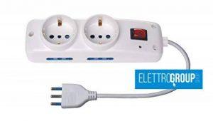 Bloc multiprise–6prises de dont 2Allemandes avec interrupteur lumineux de la marque Ecova image 0 produit