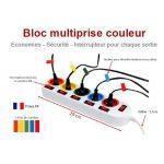 Bloc Multiprise Couleur - Interrupteur pour chaque sortie + 5 stickers de la marque Fishtec ® image 1 produit