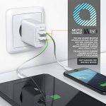 Bloc secteur / chargeur à 2 ports USB d'Aplic (4800mA total / max. 2400mA par port) | adaptateur de recharge à 2 ports USB / USB Charger | adapté pour téléphones portables, smartphones, tablettes, et beaucoup d'autres (Asus, Huawei, LG, Oppo, Oukitel, Mot image 2 produit