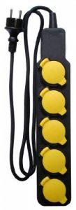 Bloc Étanche IP44 5 Prises 16A 2P+T avec Clapets - Câble HO5RRF 3G1 de 1,5m de la marque Inotech image 0 produit