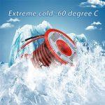 Bntechgo Calibre 18Bobine de fil de silicone 100Pieds Ultra Flexible haute température 200deg C 600V 18AWG Fil de silicone 150brins de fil de cuivre étamé 15,2m Noir et rouge 15,2m dorés pour batterie Modèle de la marque BNTECHGO image 2 produit