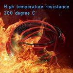 Bntechgo Calibre 24Fil de Coque en silicone ultra souple 20Pieds haute température 200deg C 600V 24AWG Fil de silicone 40brins de fil de cuivre étamé câble de batterie dorés Modèle Noir et rouge chaque couleur 3m de la marque BNTECHGO image 2 produit