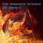 Bntechgo Calibre 28Câble silicone ultra souple 20Pieds haute température 200deg C 600V 28AWG câble silicone 16brins de fil de cuivre étamé dorés Modèle câble Noir et rouge chaque couleur 3m de la marque BNTECHGO image 2 produit