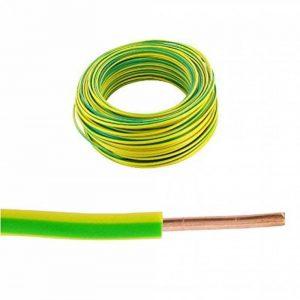 Bobine fil rigide 100m. 1,5mm² Vert/Jaune H07VR/VU de la marque Générique image 0 produit