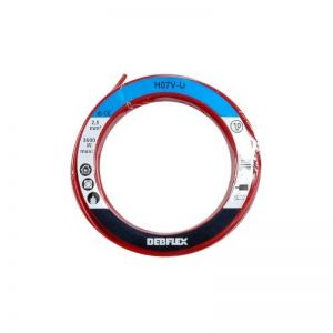BOBINOT CABLE RIGIDE 10M HO7V-U 2,5mm² ROUGE de la marque DEBFLEX image 0 produit